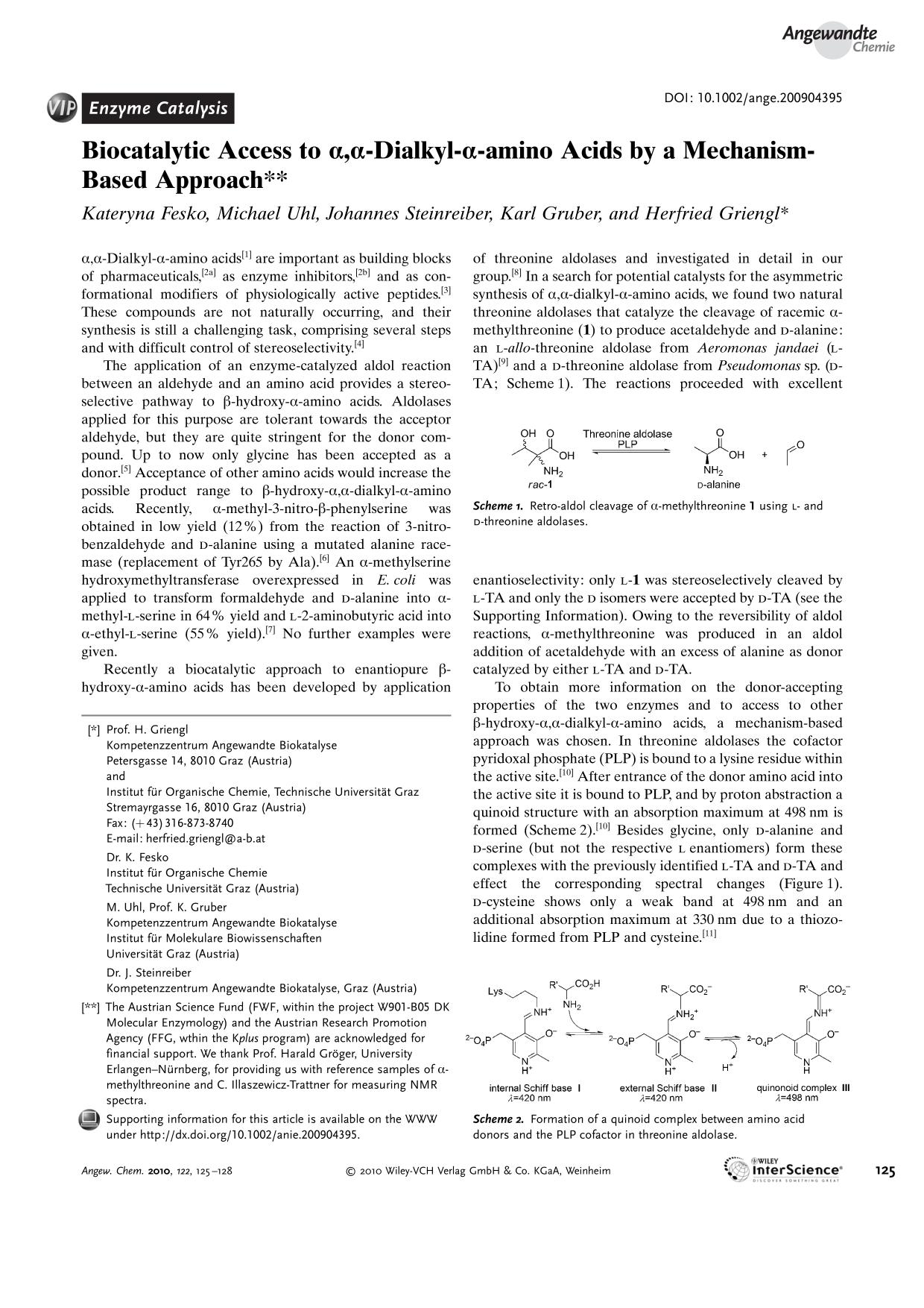 Обложка книги Biocatalytic Access to α,α-Dialkyl-α-amino Acids by a Mechanism-Based Approach