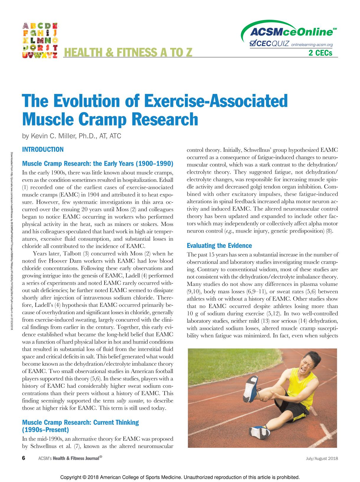 Book cover The Evolution of Exercise-Associated Muscle Cramp Research