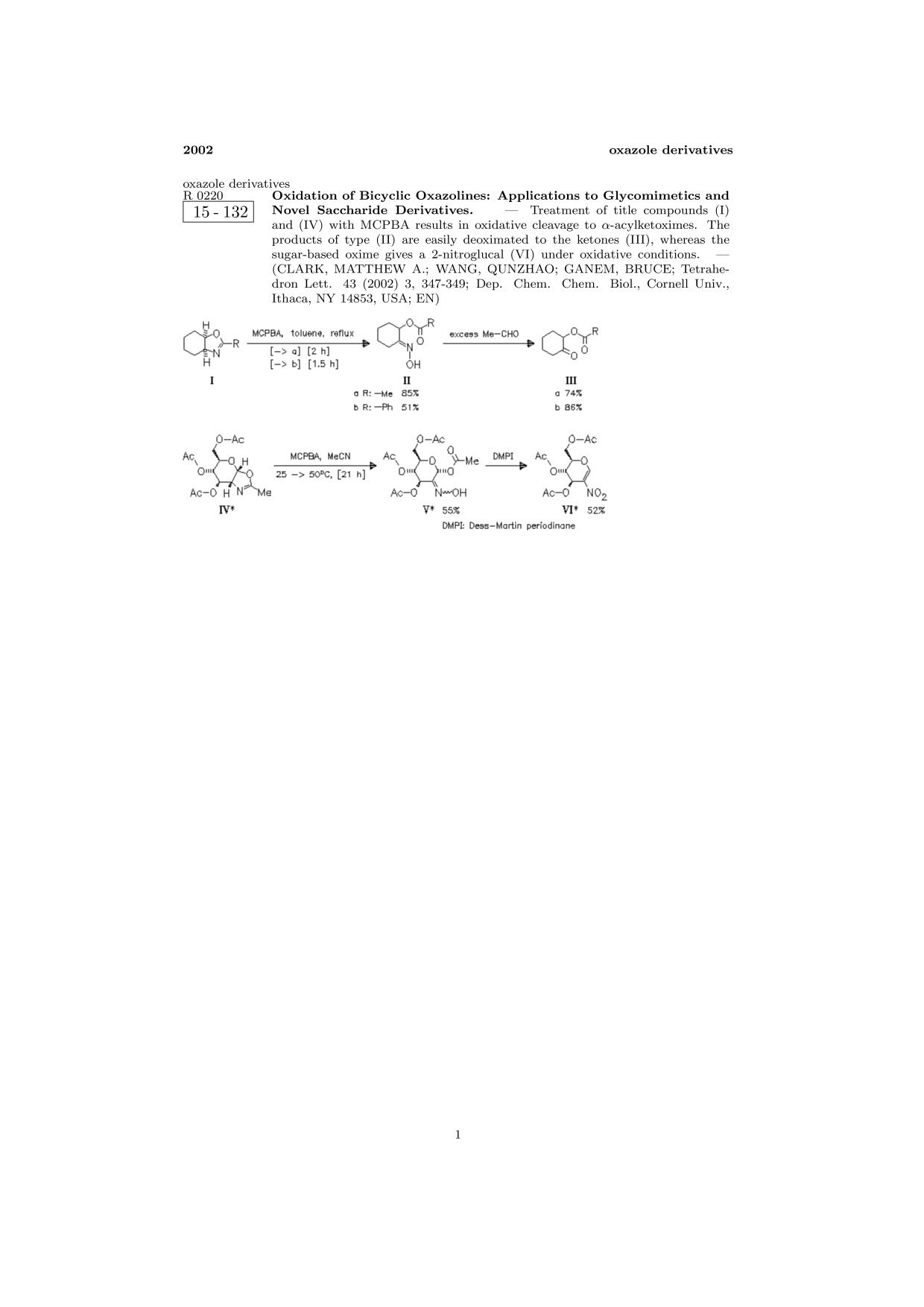 Обложка книги ChemInform Abstract: Oxidation of Bicyclic Oxazolines: Applications to Glycomimetics and Novel Saccharide Derivatives.<span></span>
