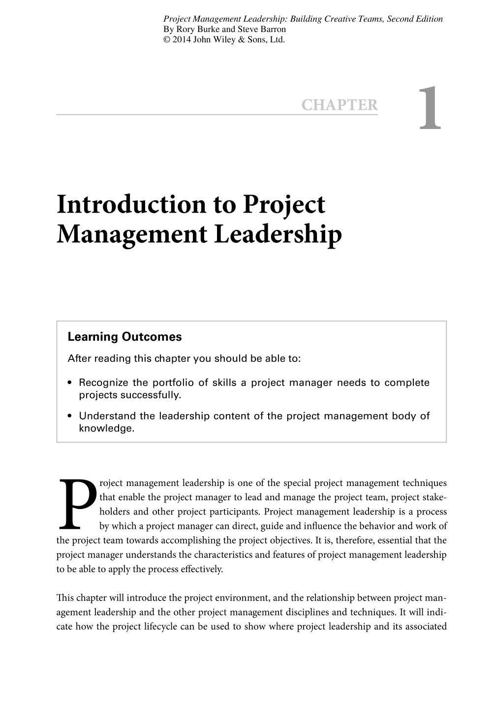 Book cover Project Management Leadership (Building Creative Teams) || Introduction to Project Management Leadership