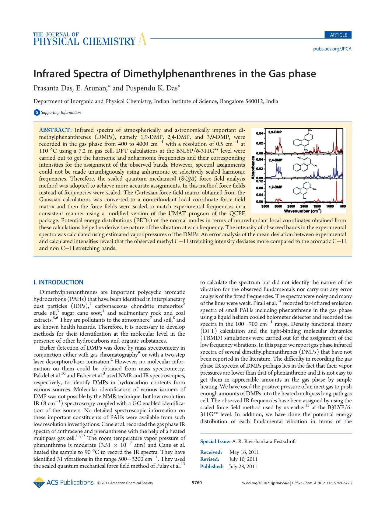 Book cover Infrared Spectra of Dimethylphenanthrenes in the Gas phase