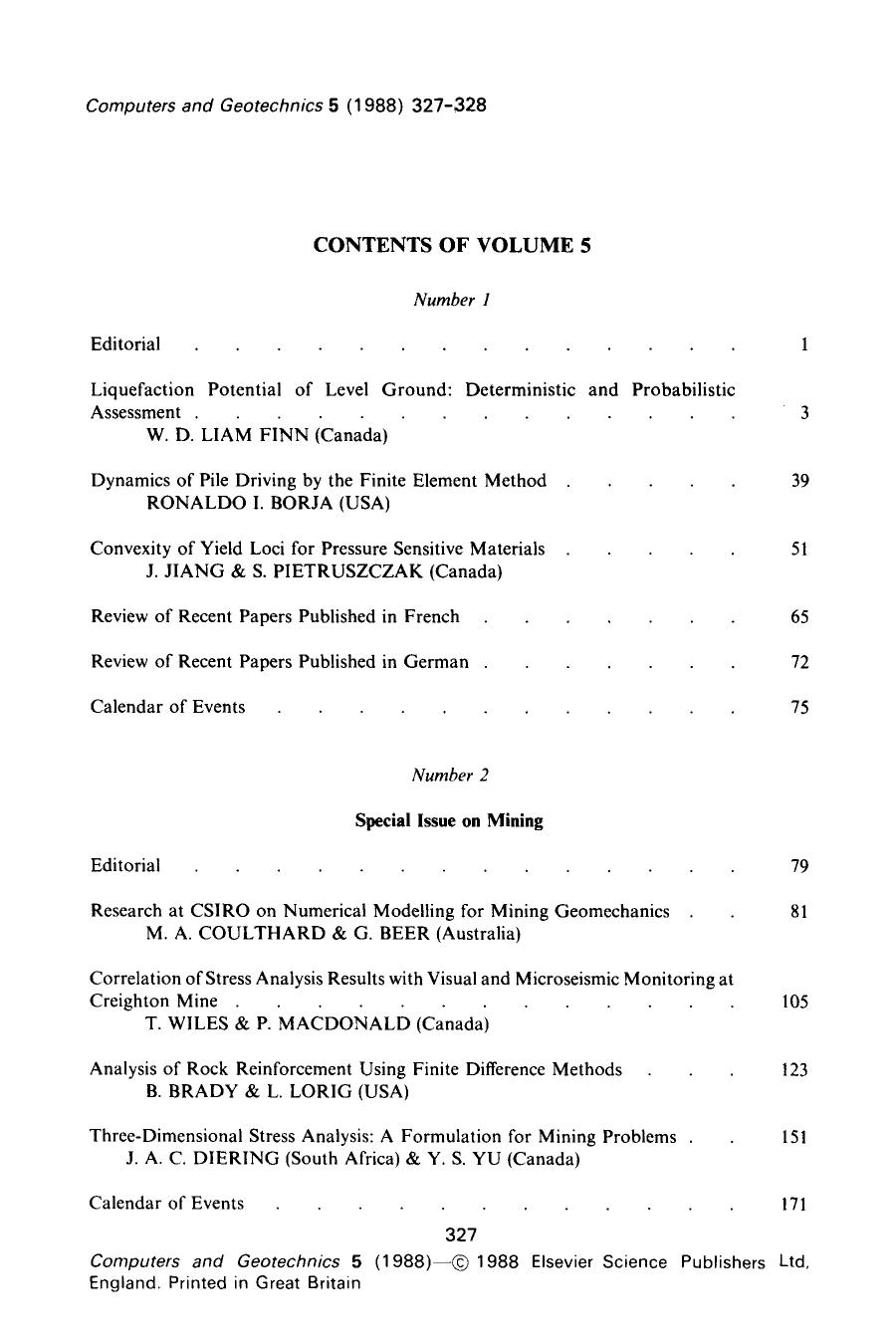Book cover Contents of volume 5