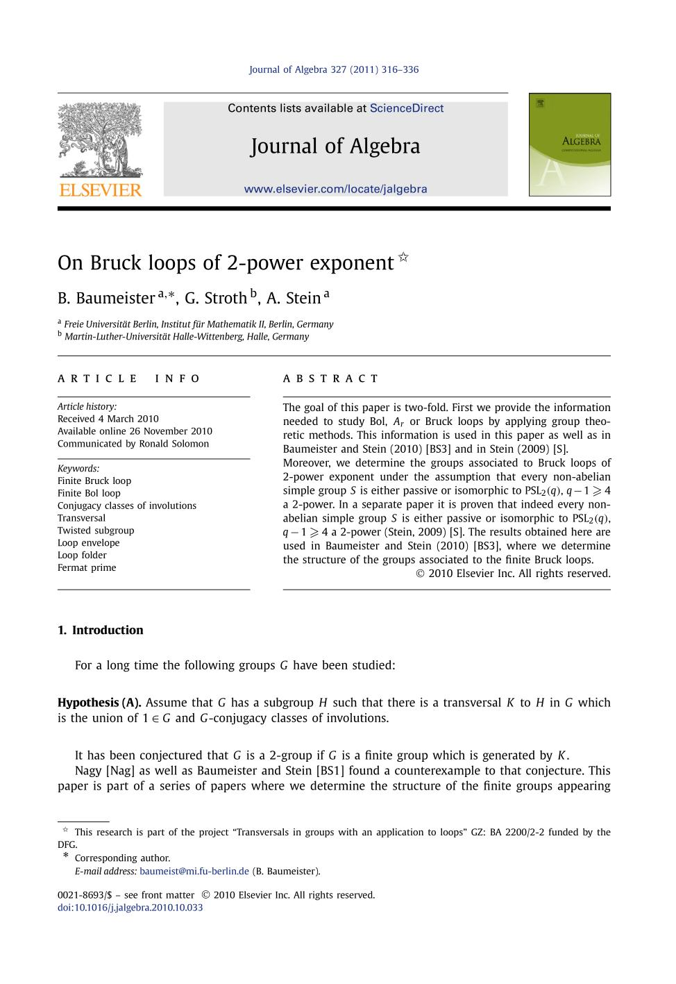 Book cover On Bruck loops of 2-power exponent