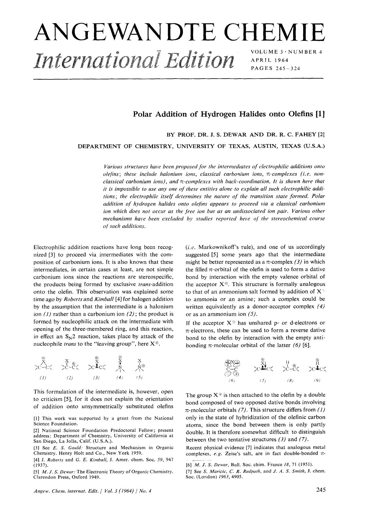 Book cover Polar Addition of Hydrogen Halides onto Olefins