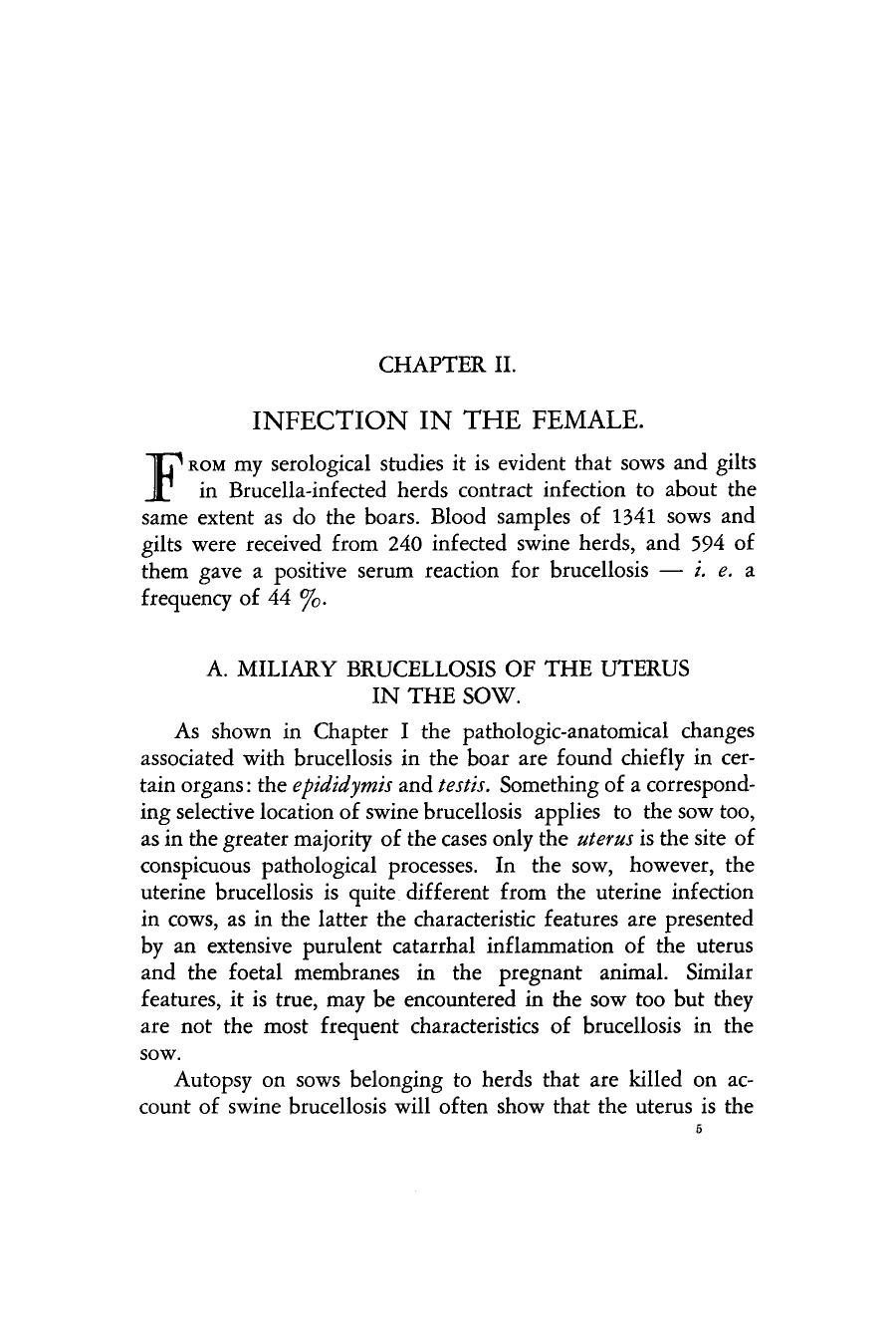 Book cover CHAPTER II: INFECTION IN THE FEMALE