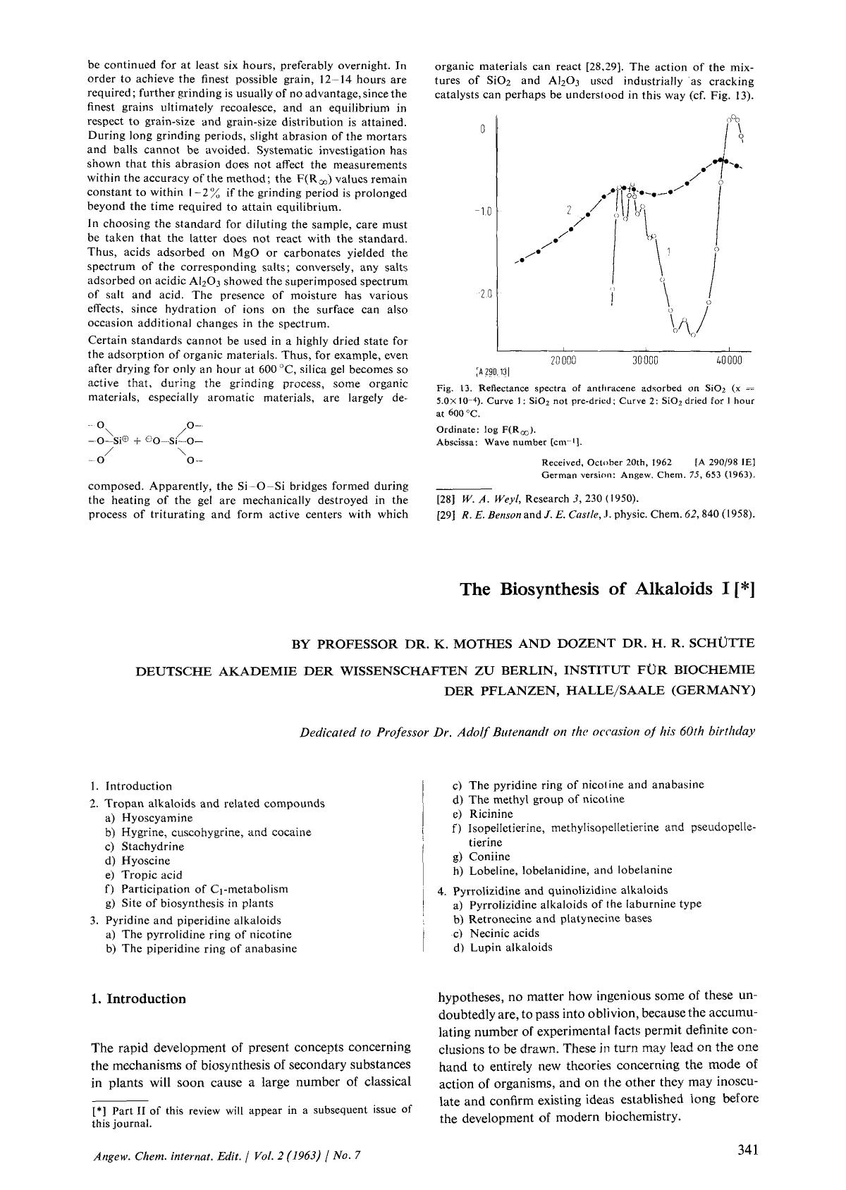 Book cover The Biosynthesis of Alkaloids I