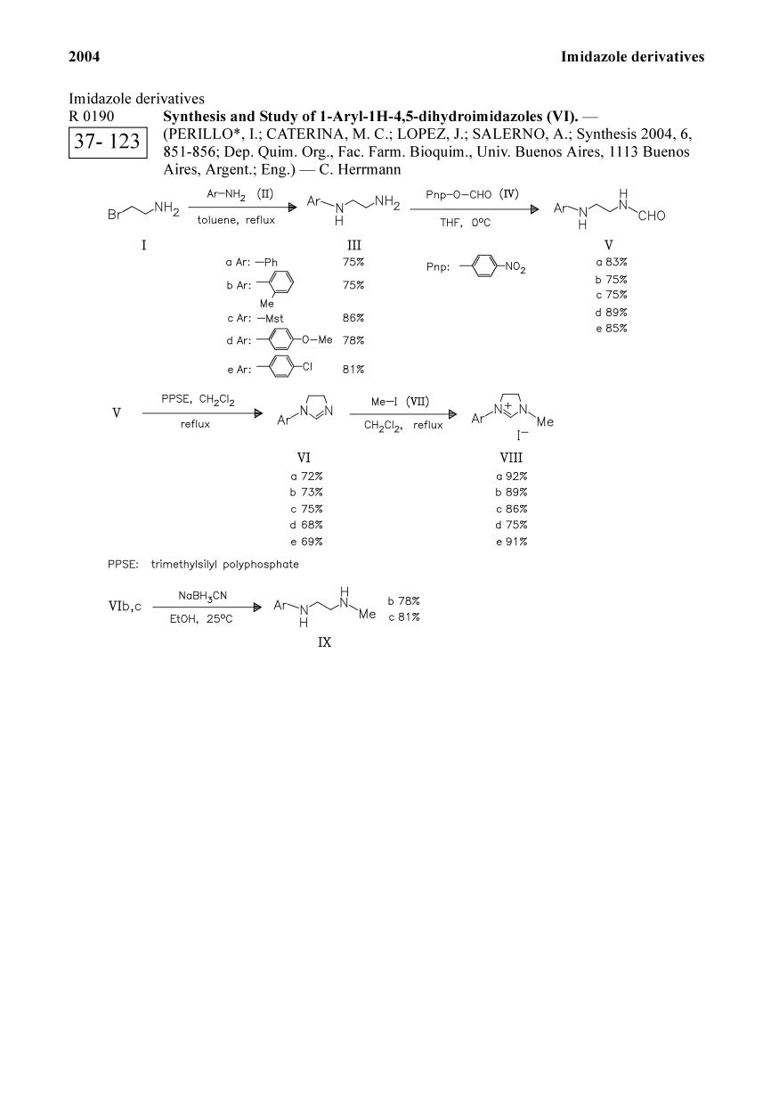 Kover buku Synthesis and Study of 1-Aryl-1H-4,5-dihydroimidazoles (VI).<span></span>