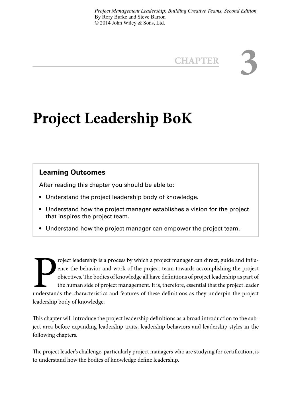 Book cover Project Management Leadership (Building Creative Teams)    Project Leadership Bok