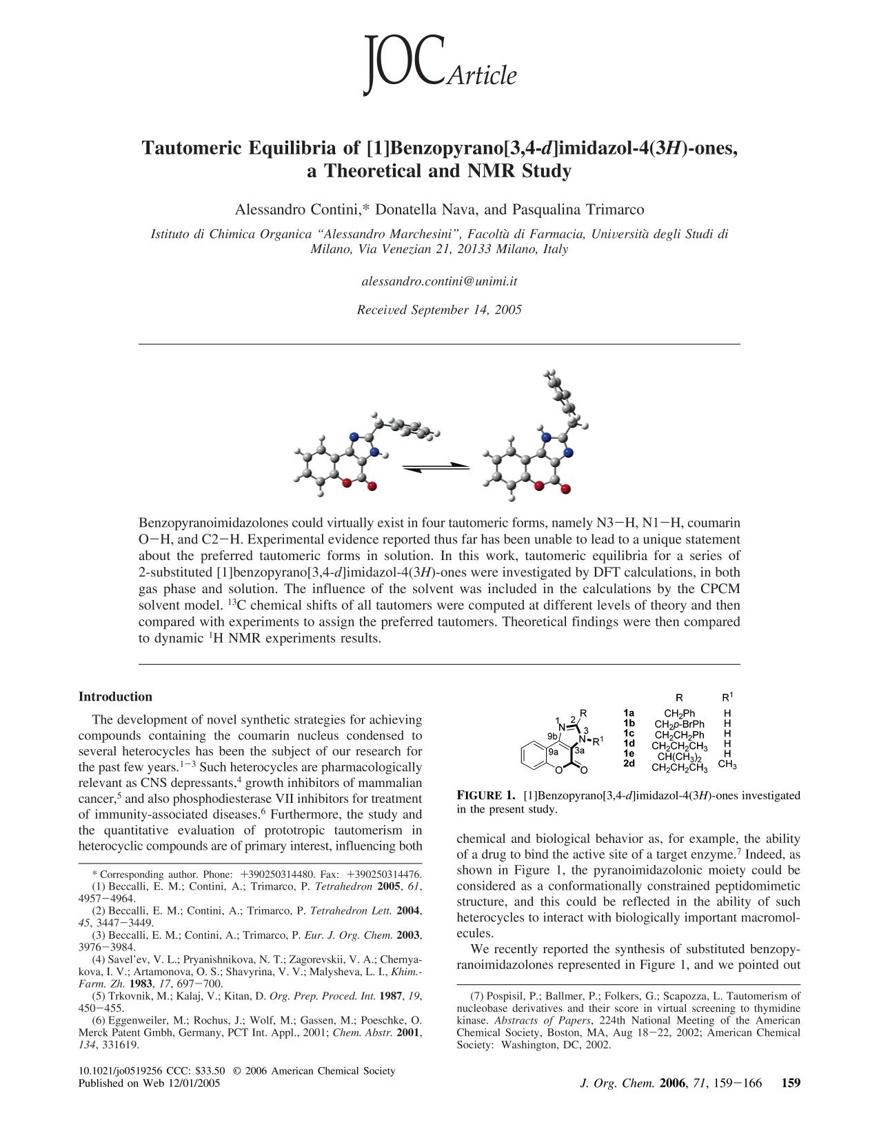 Book cover Tautomeric Equilibria of [1]Benzopyrano[3,4-