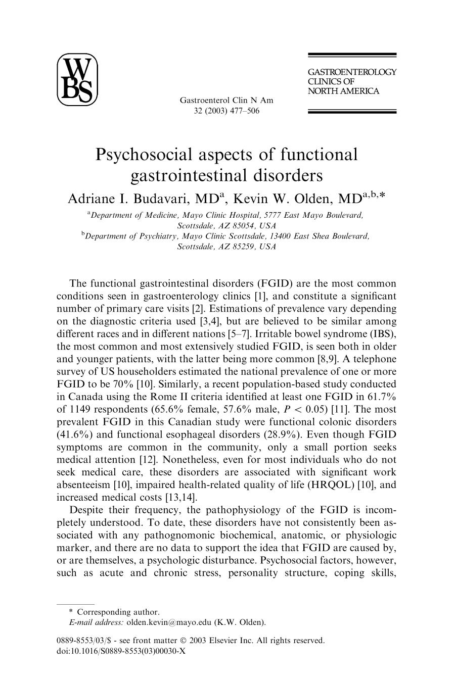 Book cover Psychosocial aspects of functional gastrointestinal disorders