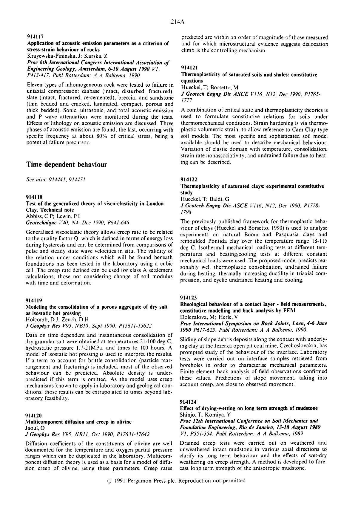 Book cover Multicomponent diffusion and creep in olivine : Jaoul, O J Geophys ResV95, NB11, Oct 1990, P17631–17642