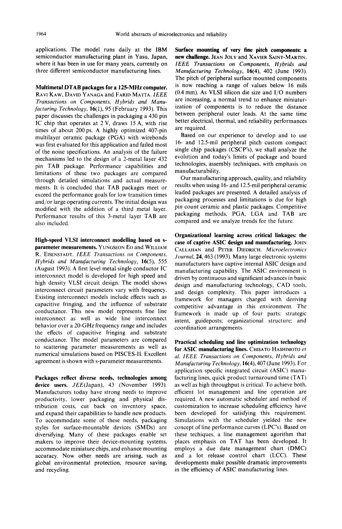 Book cover High-speed VLSI interconnect modelling based on s-parameter measurements : Yungseon Eo and William R. Eisenstadt. IEEE Transactions on Components, Hybrids and Manufacturing Technology, 16(5), 555 (August 1993)