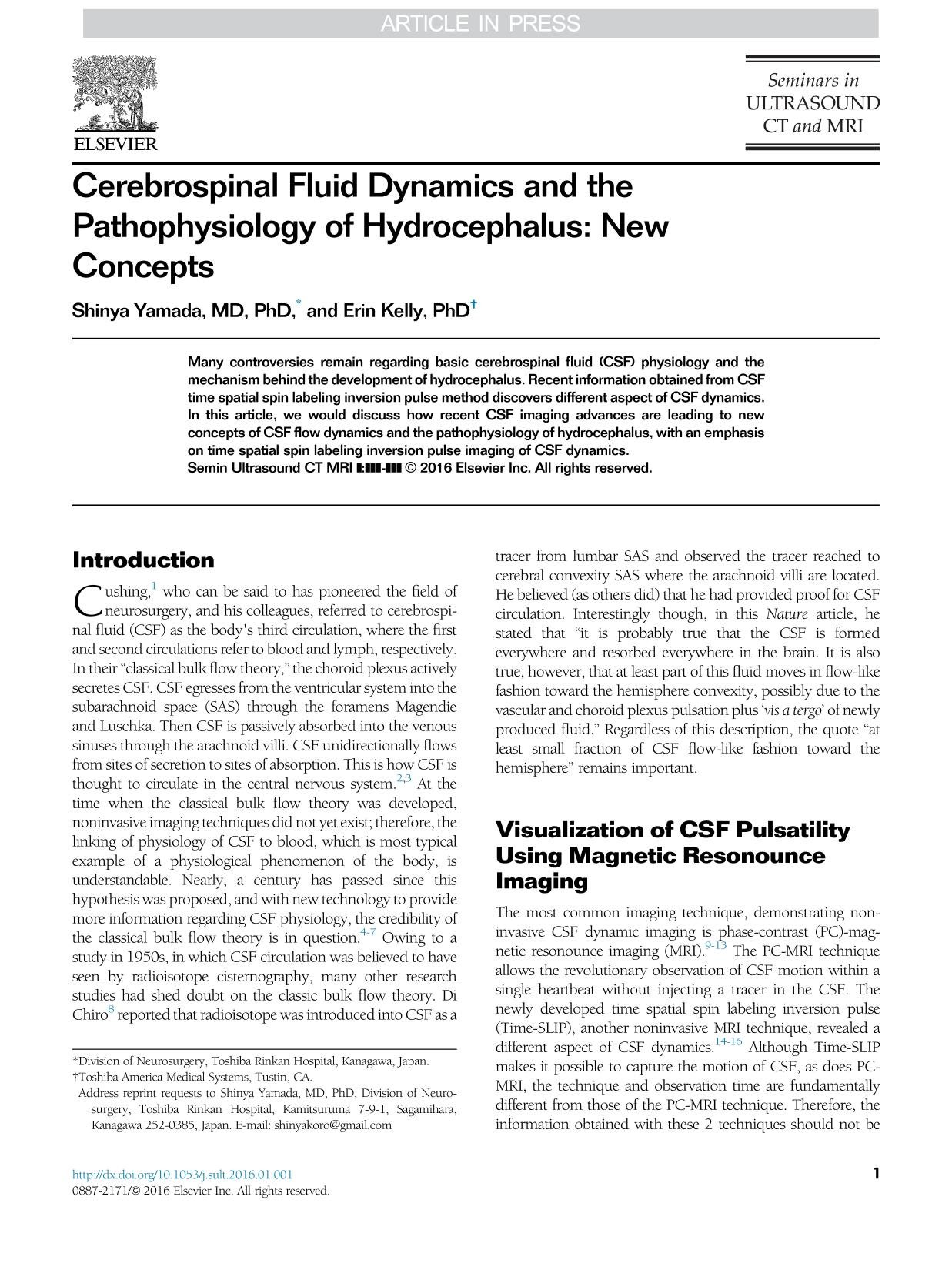 Book cover Cerebrospinal Fluid Dynamics and the Pathophysiology of Hydrocephalus: New Concepts