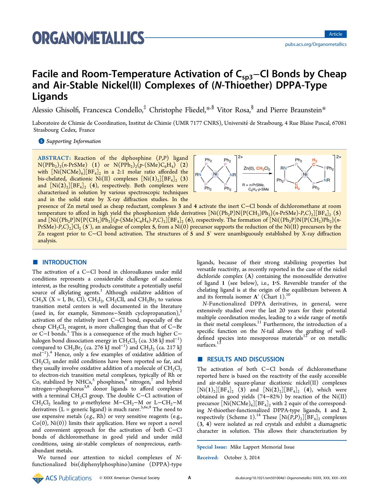 Book cover Facile and Room-Temperature Activation of C