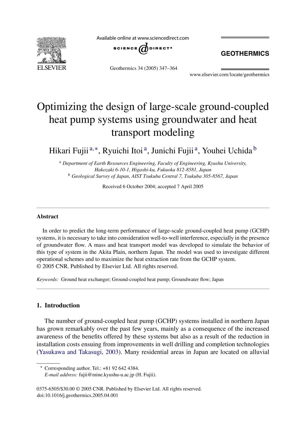 Book cover Optimizing the design of large-scale ground-coupled heat pump systems using groundwater and heat transport modeling