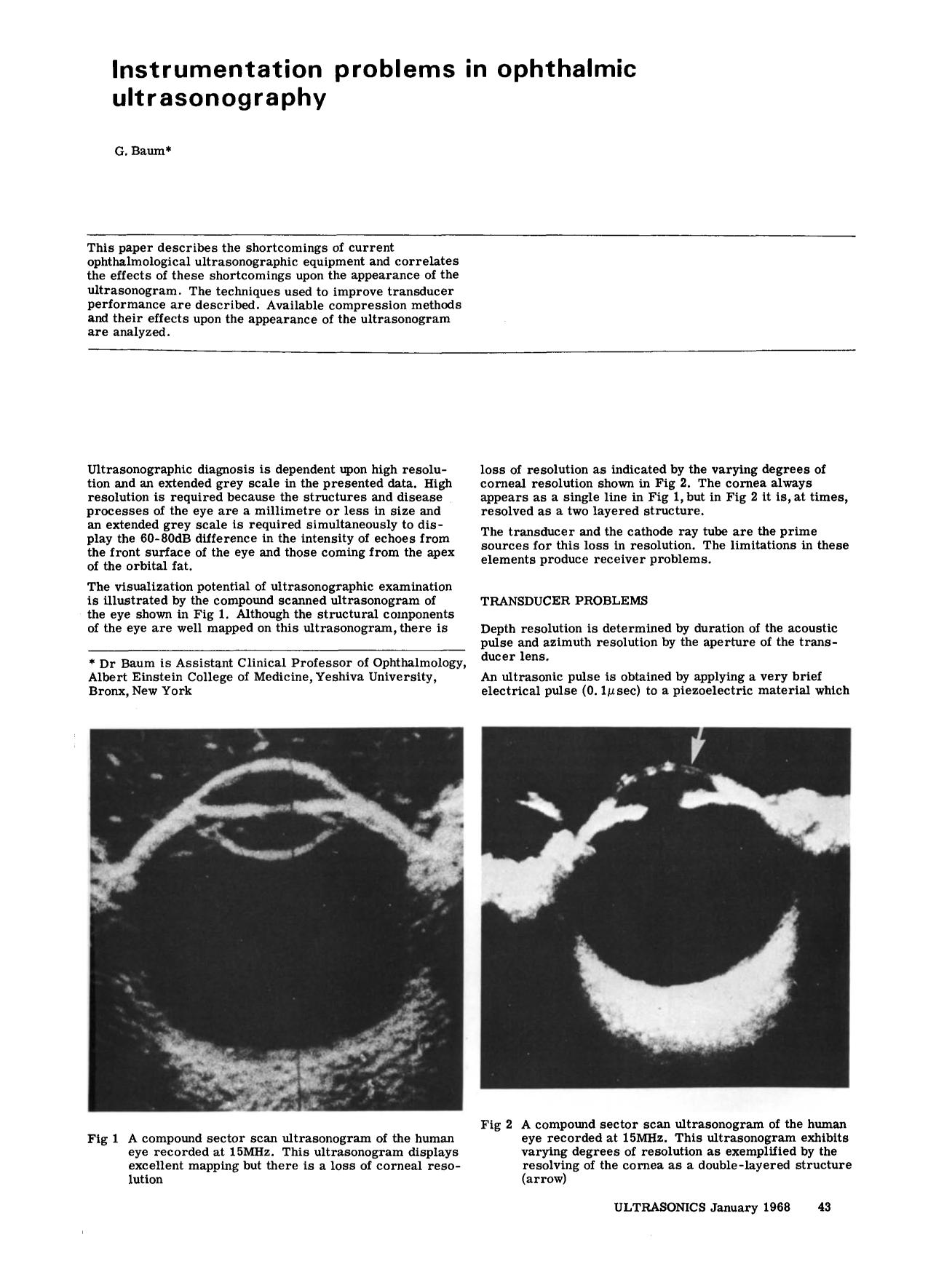 Book cover Instrumentation problems in ophthalmic ultrasonography