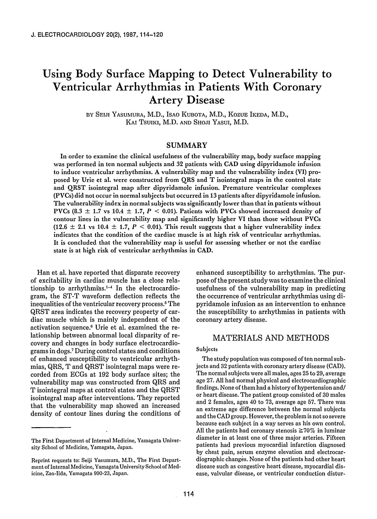 Обложка книги Using body surface mapping to detect vulnerability to ventricular arrhythmias in patients with coronary artery disease