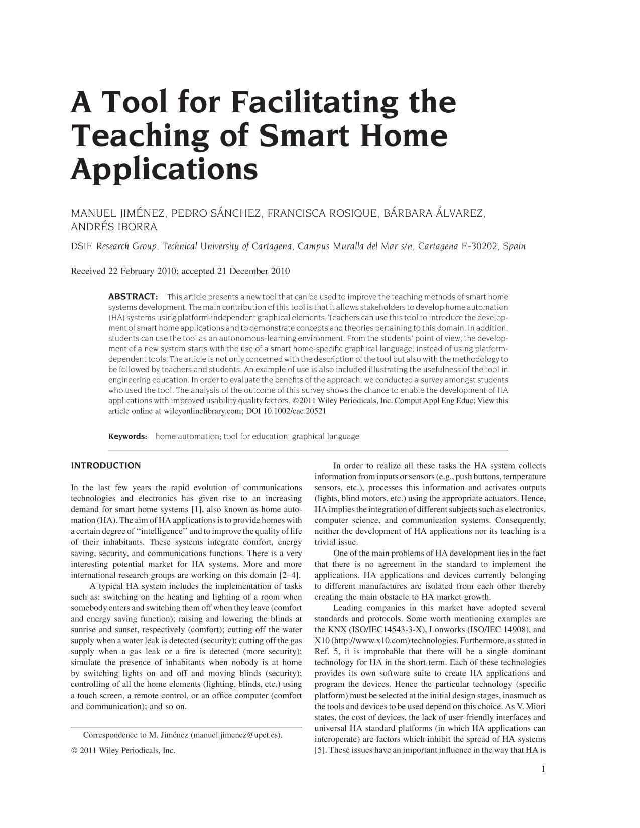 Book cover A tool for facilitating the teaching of smart home applications<span></span>