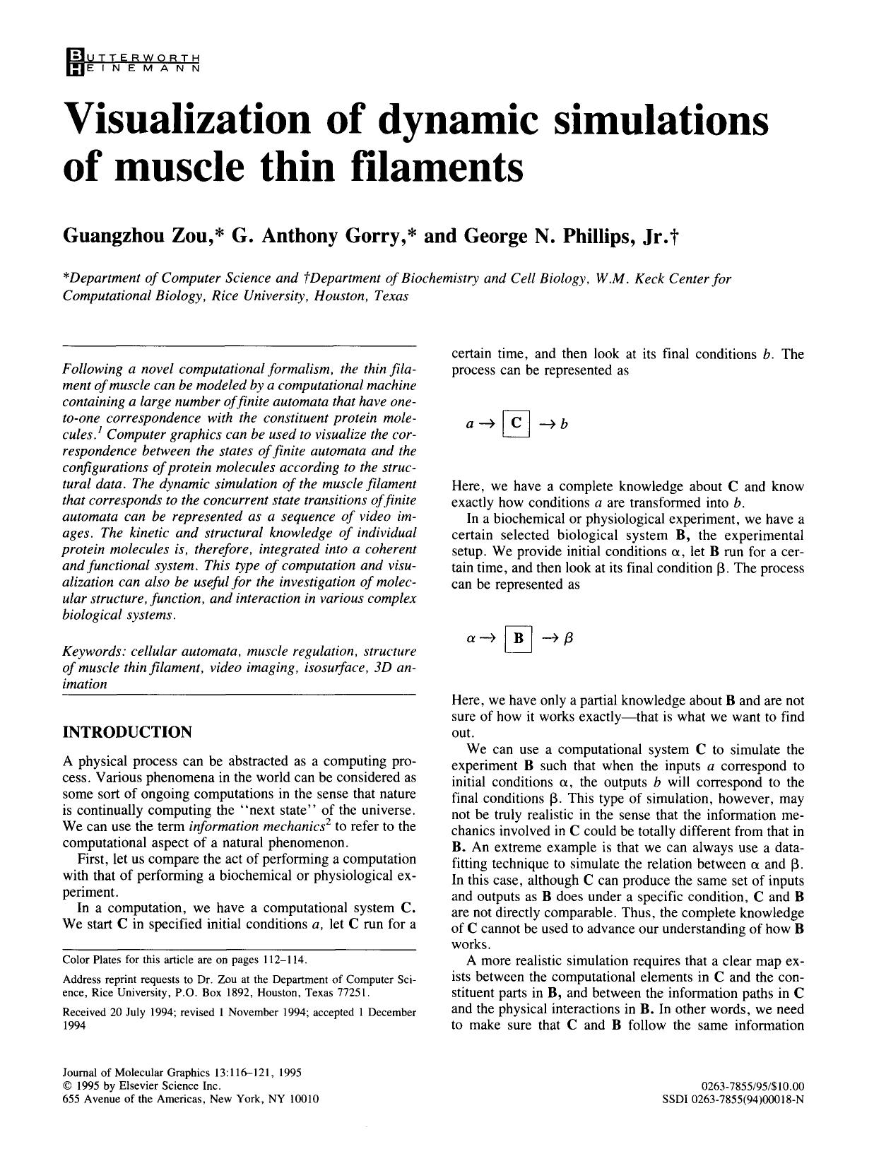 Book cover Visualization of dynamic simulations of muscle thin filaments