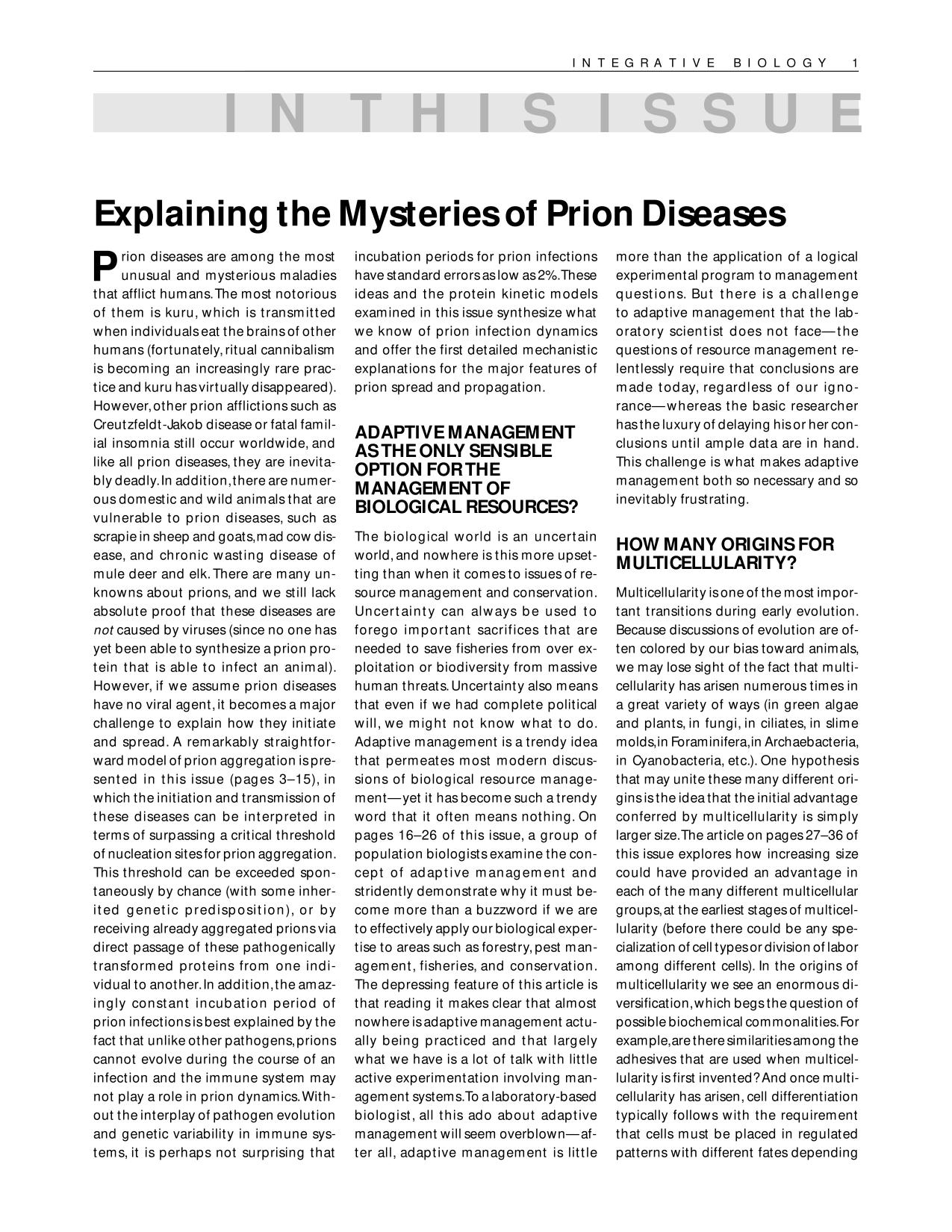 Book cover Explaining the mysteries of prion diseases