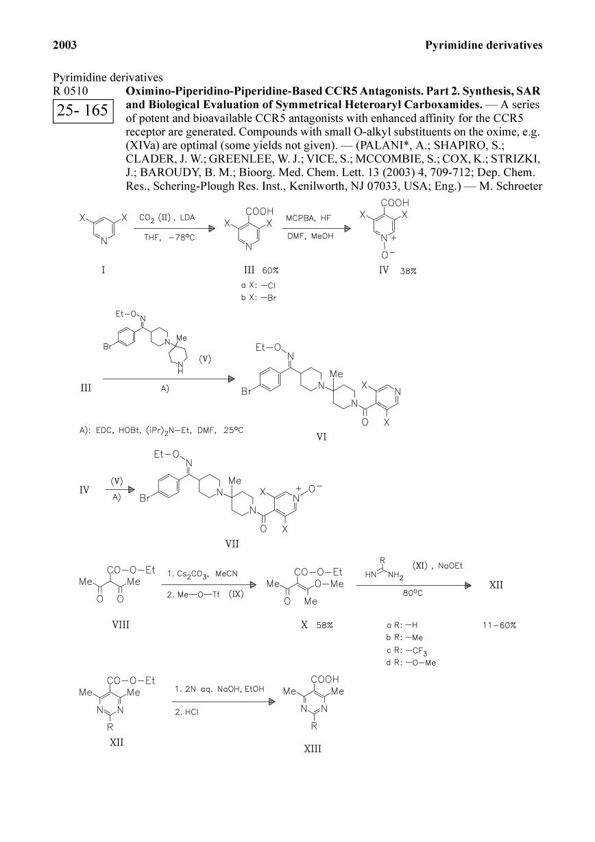 Portada del libro Oximino-Piperidino-Piperidine-Based CCR5 Antagonists. Part 2. Synthesis, SAR and Biological Evaluation of Symmetrical Heteroaryl Carboxamides.<span></span>