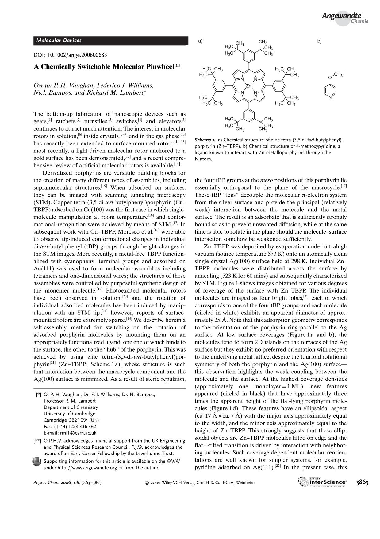 Book cover A Chemically Switchable Molecular Pinwheel