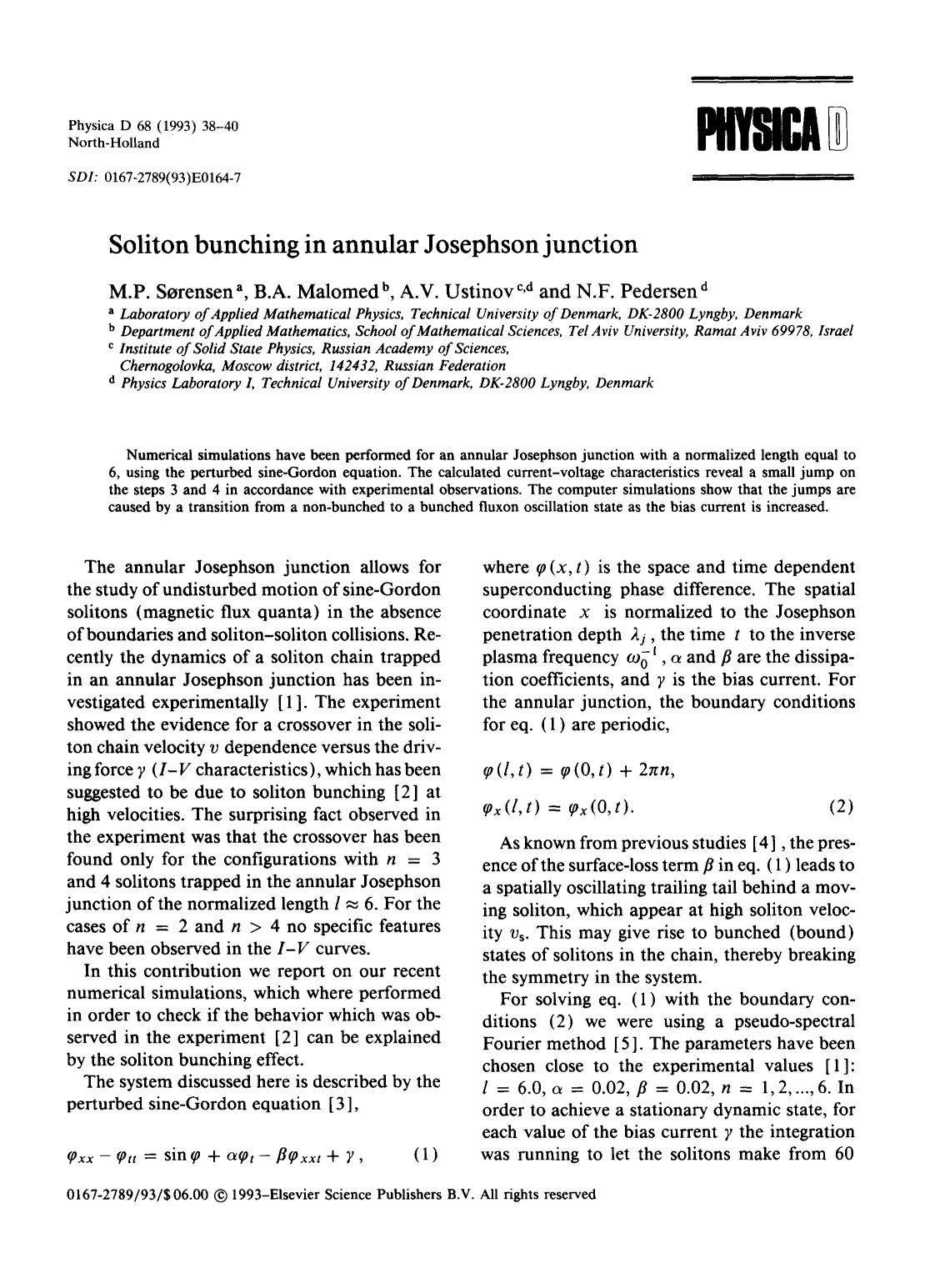 Book cover Soliton bunching in annular Josephson junction