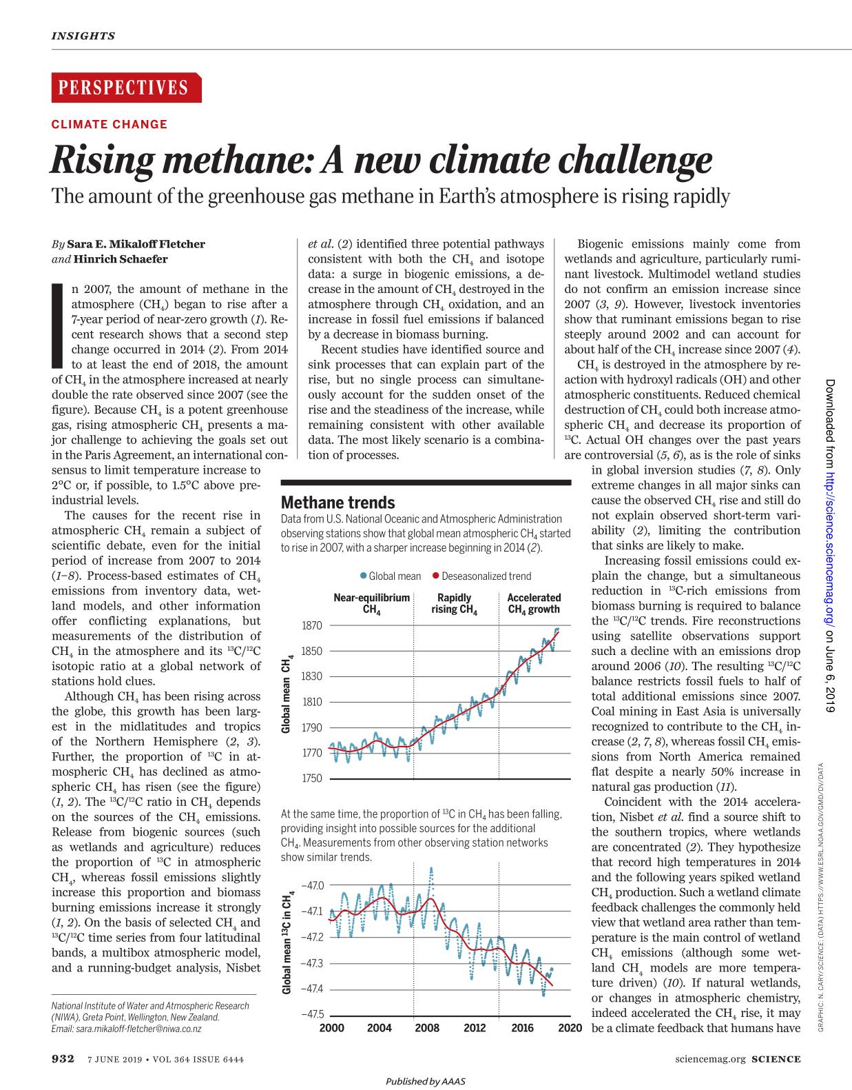 Book cover Rising methane: A new climate challenge
