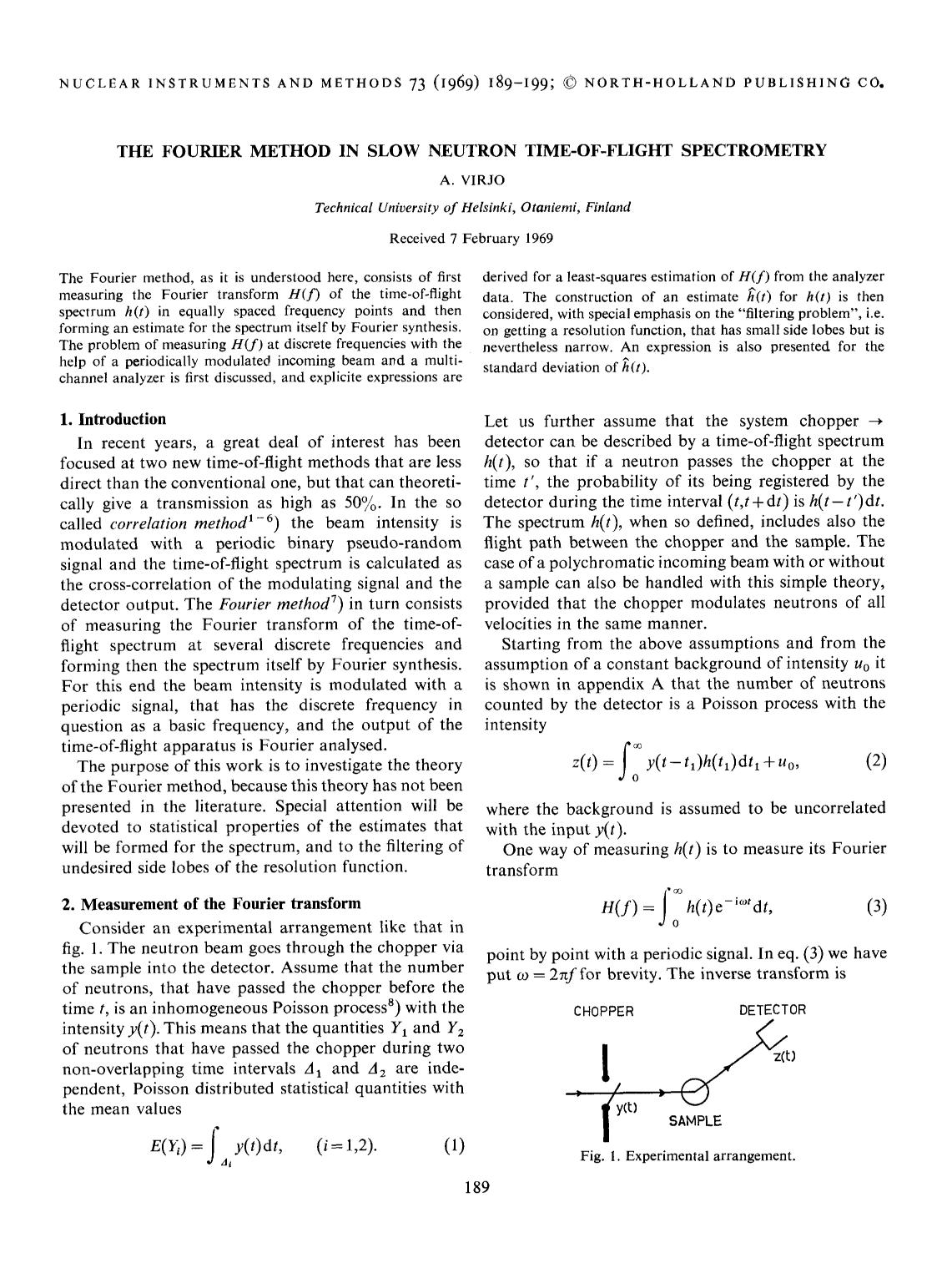 Book cover The Fourier method in slow neutron time-of-flight spectrometry
