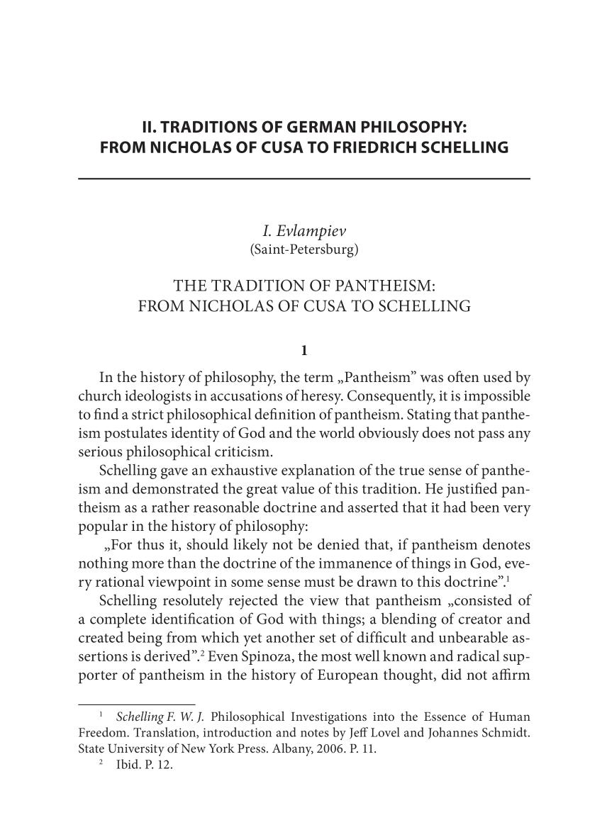 Book cover THE TRADITION OF PANTHEISM:  FROM NICHOLAS OF CUSA TO SCHELLING