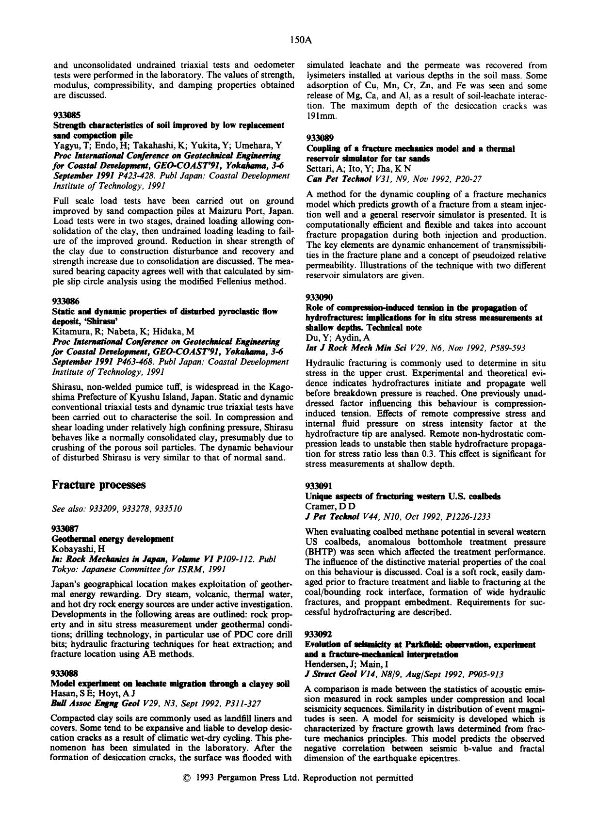 Book cover Unique aspects of fracturing western U.S. coalbeds : Cramer, D D J Pet TechnolV44, N10, Oct 1992, P1226–1233