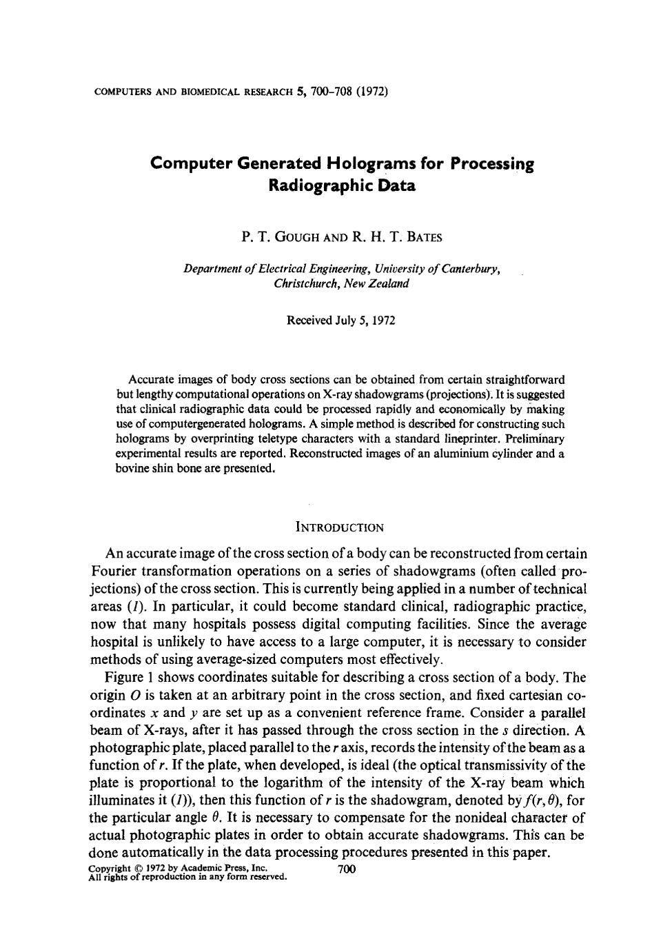 Book cover Computer generated holograms for processing radiographic data