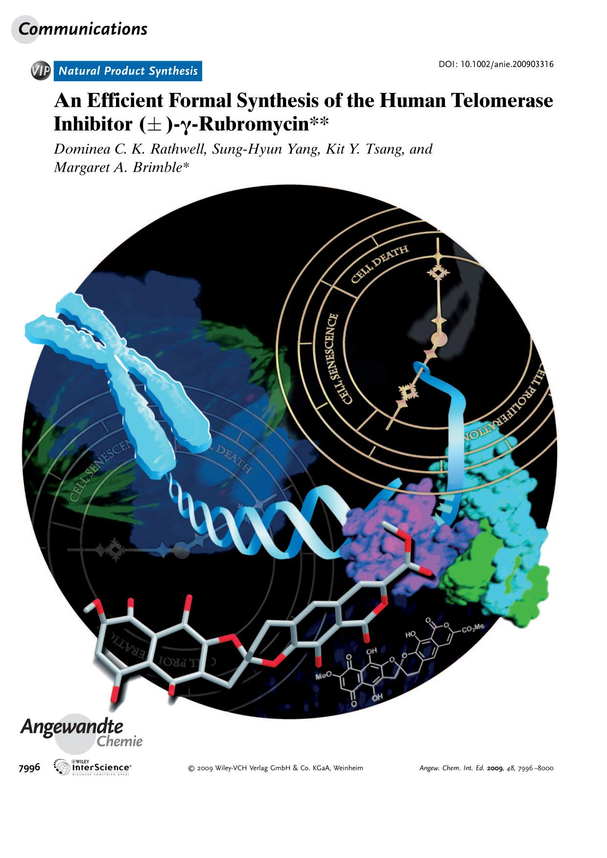 Book cover An Efficient Formal Synthesis of the Human Telomerase Inhibitor (±)-γ-Rubromycin