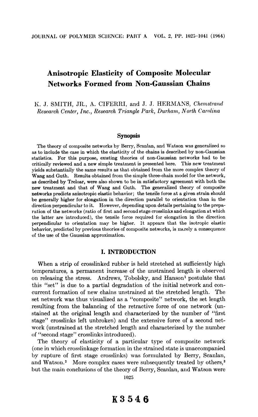 Обложка книги Anisotropic elasticity of composite molecular networks formed from non-gaussian chains