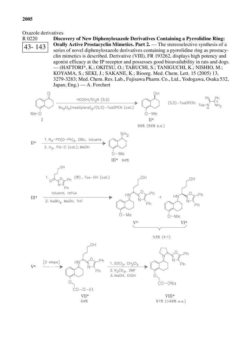 Book cover Discovery of New Diphenyloxazole Derivatives Containing a Pyrrolidine Ring: Orally Active Prostacyclin Mimetics. Part 2.<span></span>