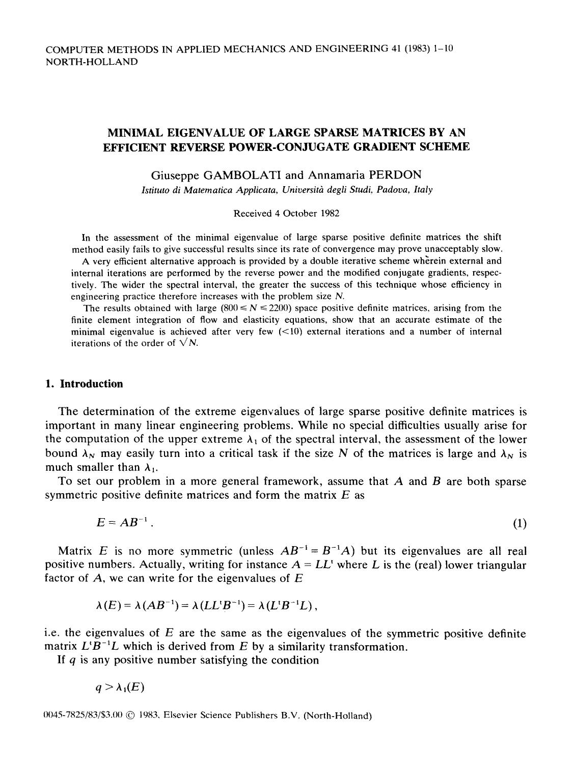 書籍の表紙 Minimal eigenvalue of large sparse matrices by an efficient reverse power-conjugate gradient scheme