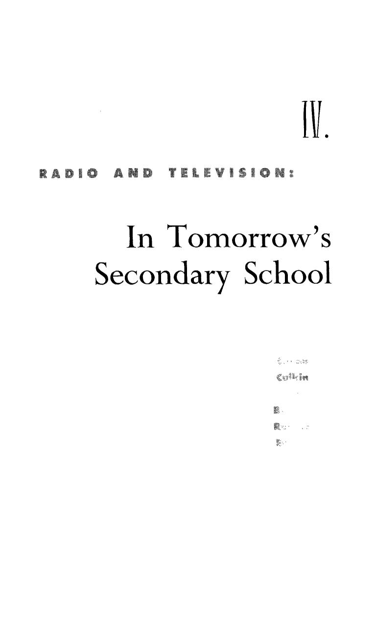 Book cover Designing the School for TV and Other Media