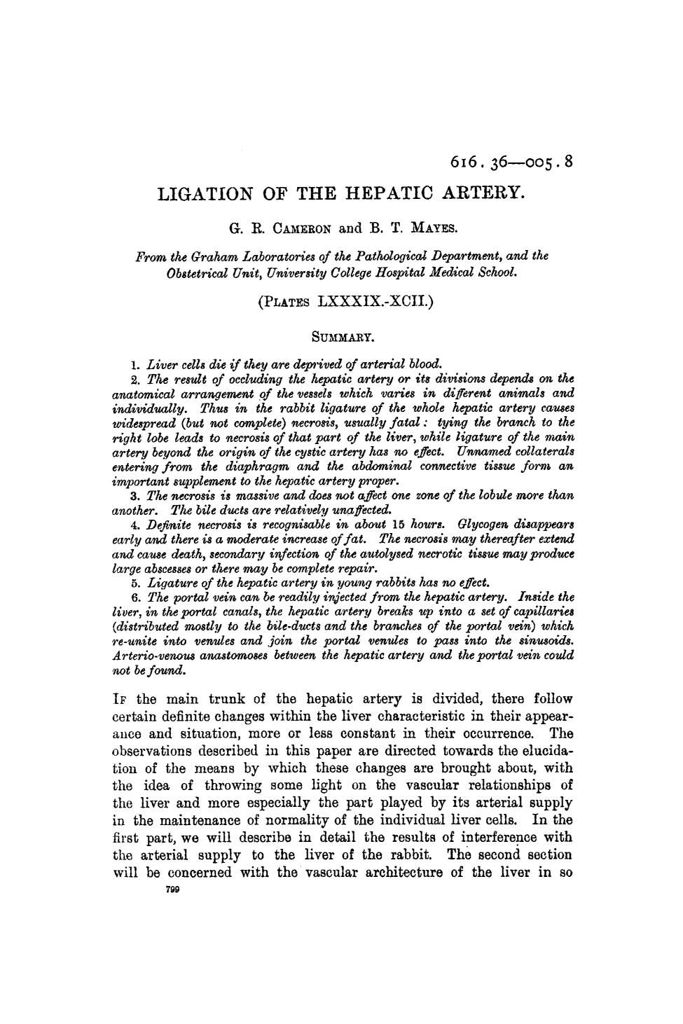 Book cover Ligation of the hepatic artery