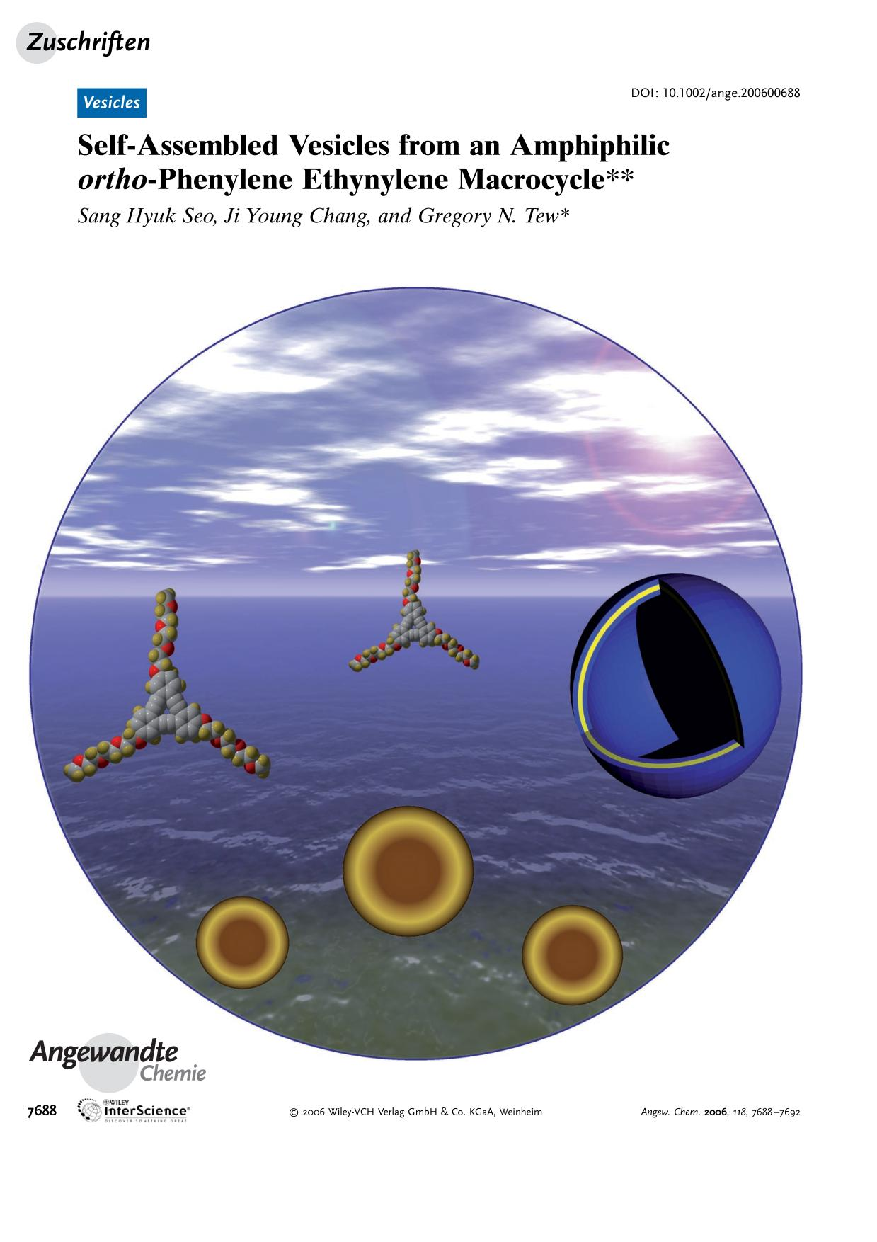 Book cover Self-Assembled Vesicles from an Amphiphilic <em>ortho</em>-Phenylene Ethynylene Macrocycle