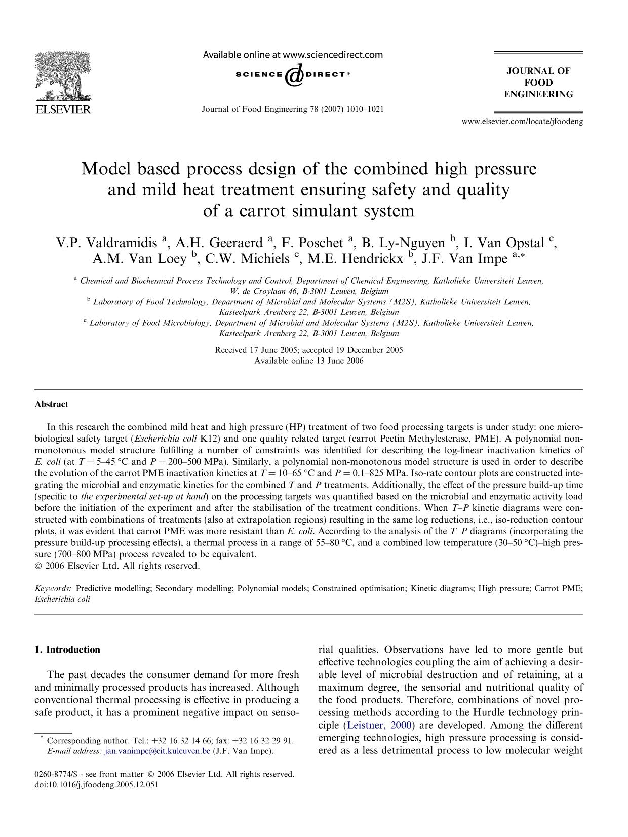Обложка книги Model based process design of the combined high pressure and mild heat treatment ensuring safety and quality of a carrot simulant system