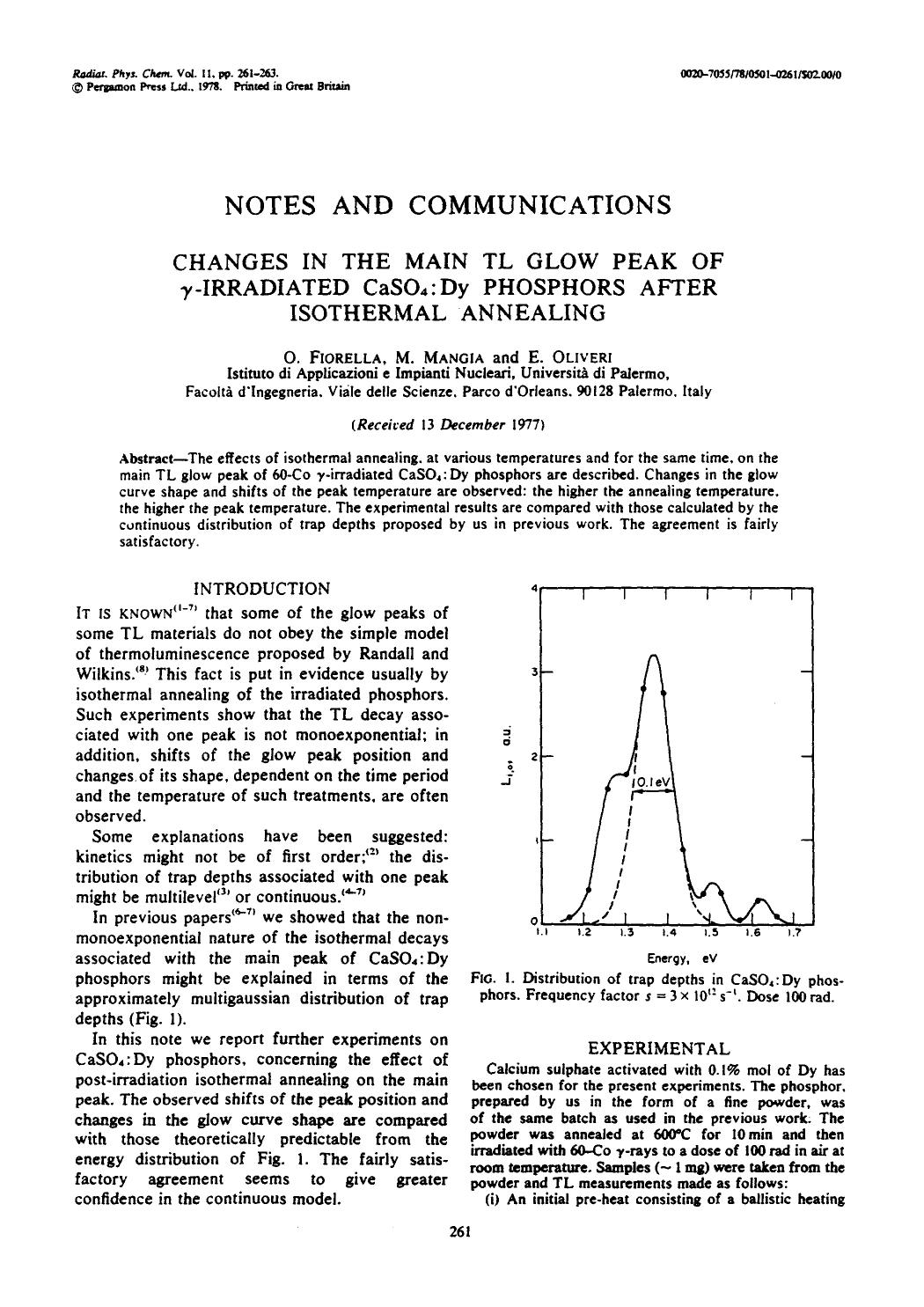 Book cover Changes in the main TL glow peak of γ-irradiated CaSO4: Dy phosphors after isothermal annealing