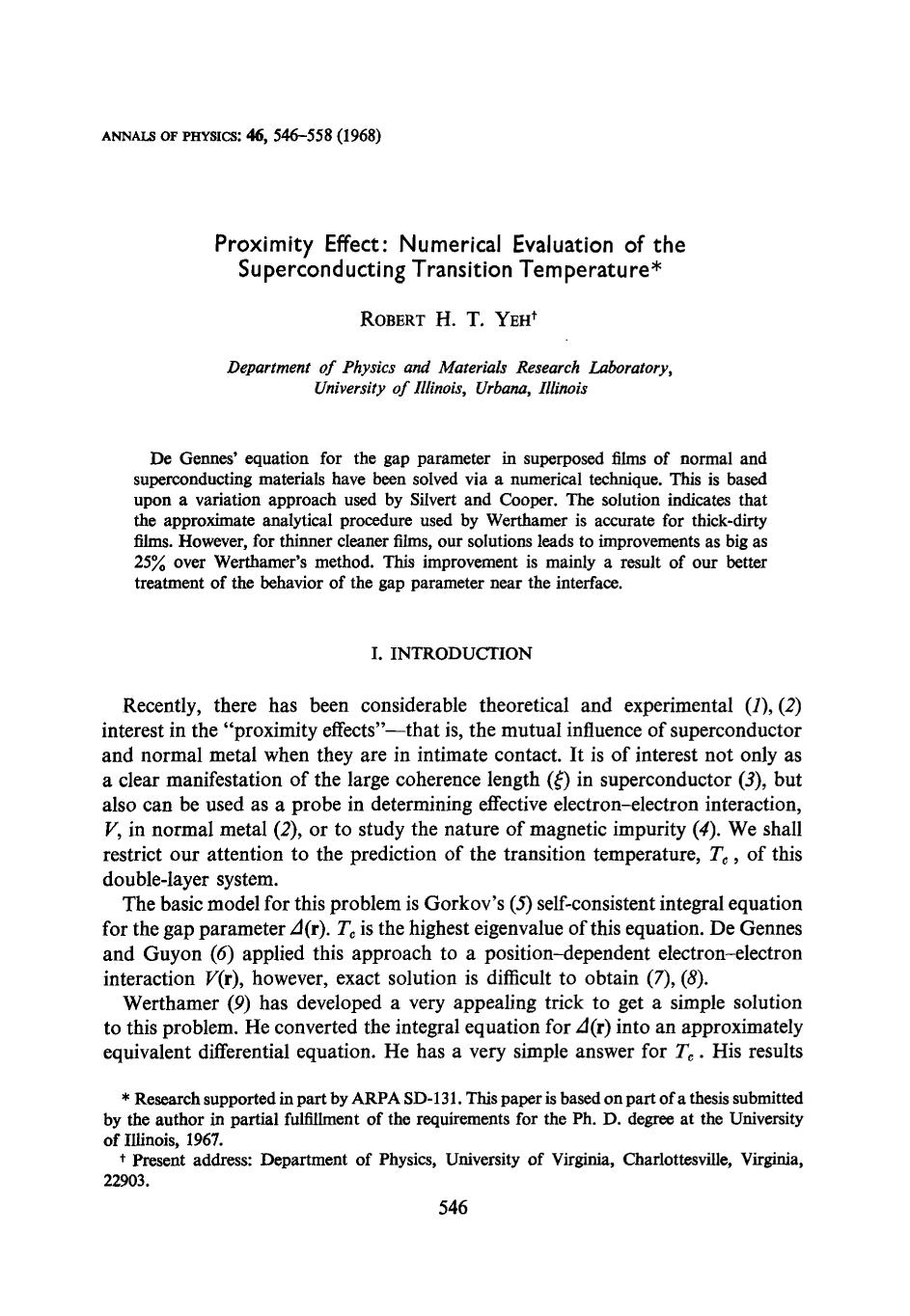 Book cover Proximity effect: Numerical evaluation of the superconducting transition temperature