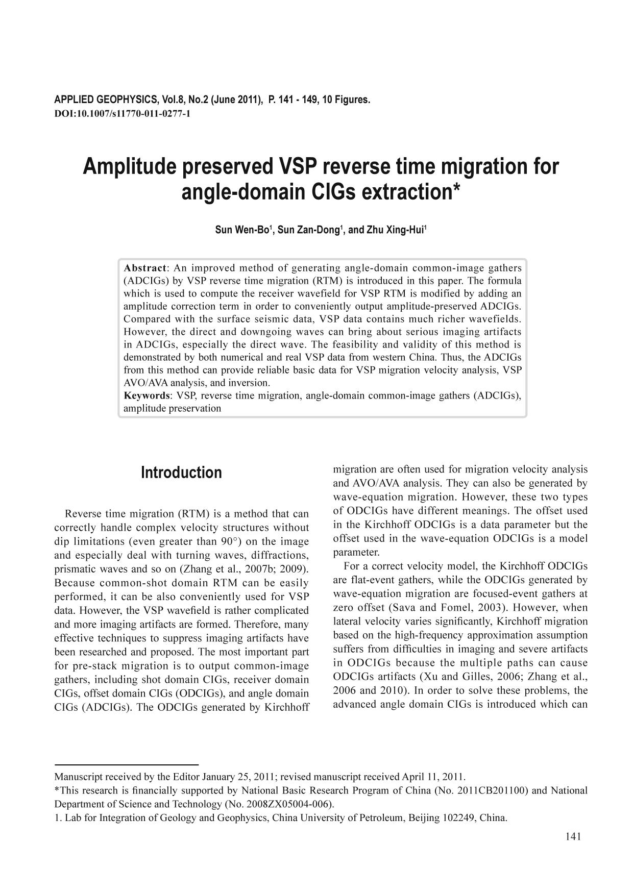 Book cover Amplitude preserved VSP reverse time migration for angle-domain CIGs extraction