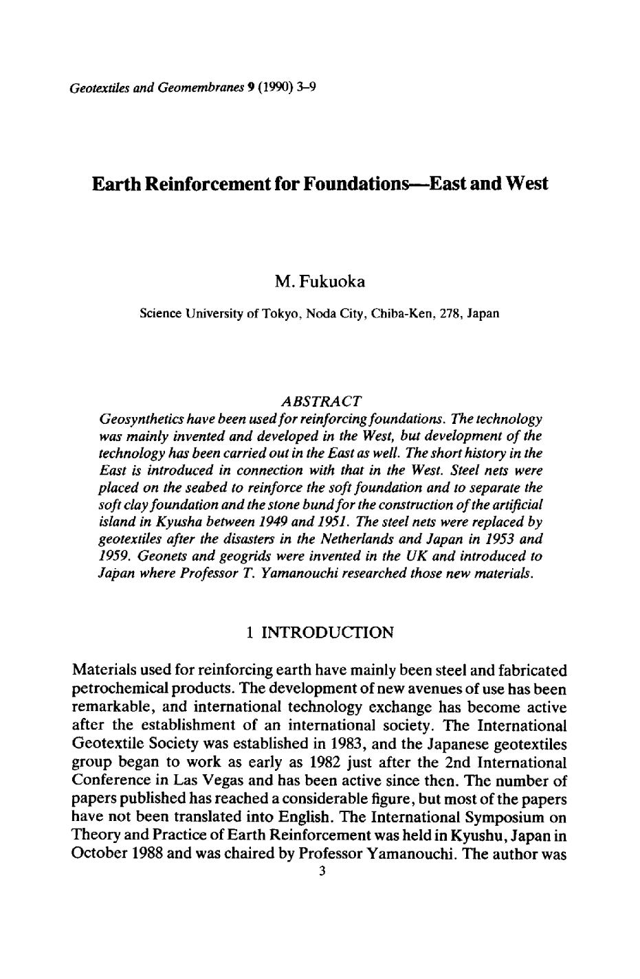 Book cover Earth reinforcement for foundations—East and West