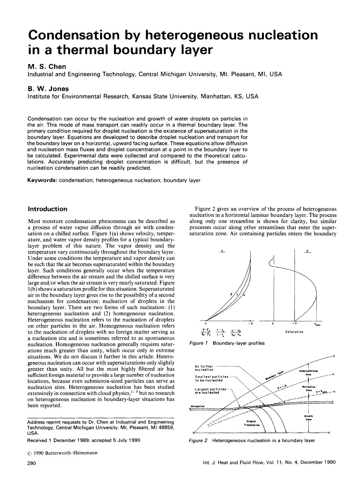 Обкладинка книги Condensation by heterogeneous nucleation in a thermal boundary layer