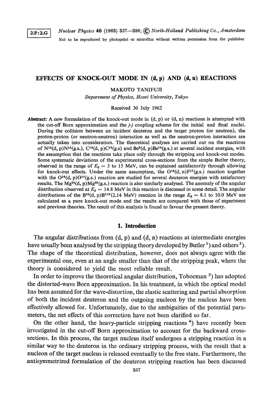 Book cover Effects of knock-out mode in (d, p) and (d, n) reactions
