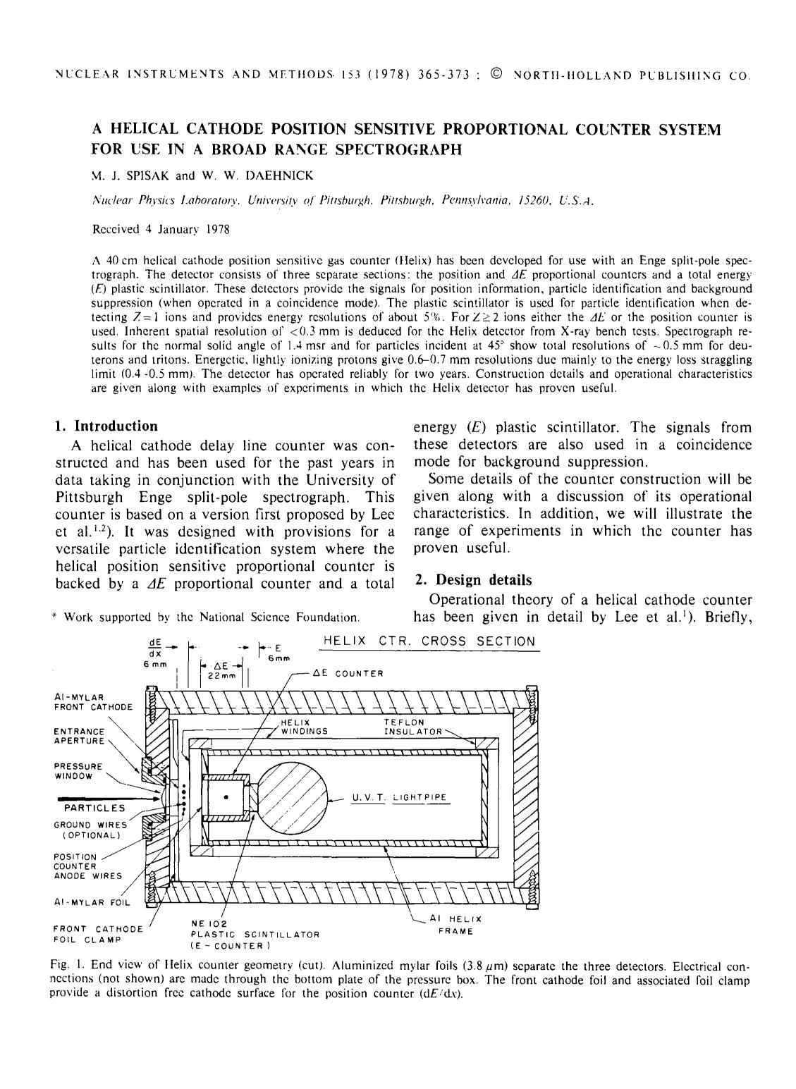 書籍の表紙 A helical cathode position sensitive proportional counter system for use in a broad range spectrograph