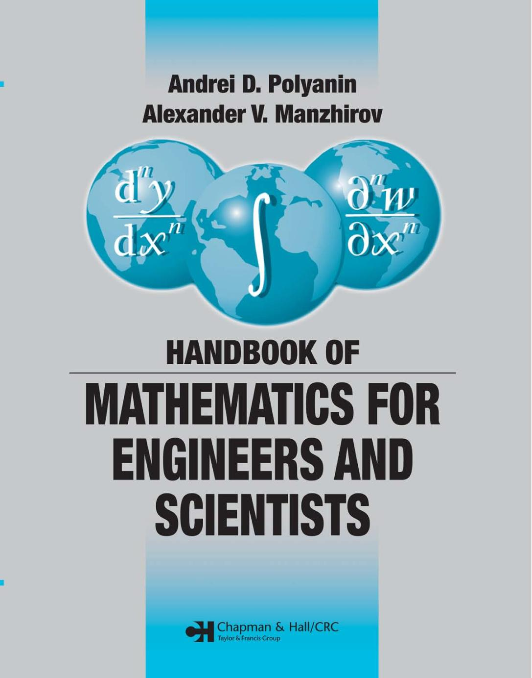 Book cover Handbook of Mathematics for Engineers and Scientists