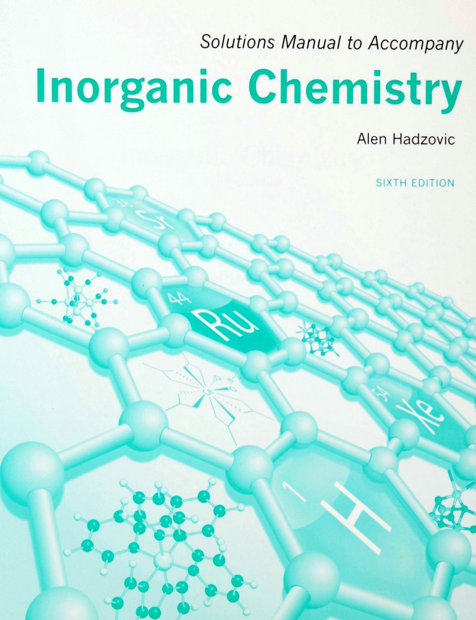 Book cover Solutions Manual for Inorganic Chemistry [Shriver's Inorganic Chemistry, 6e]