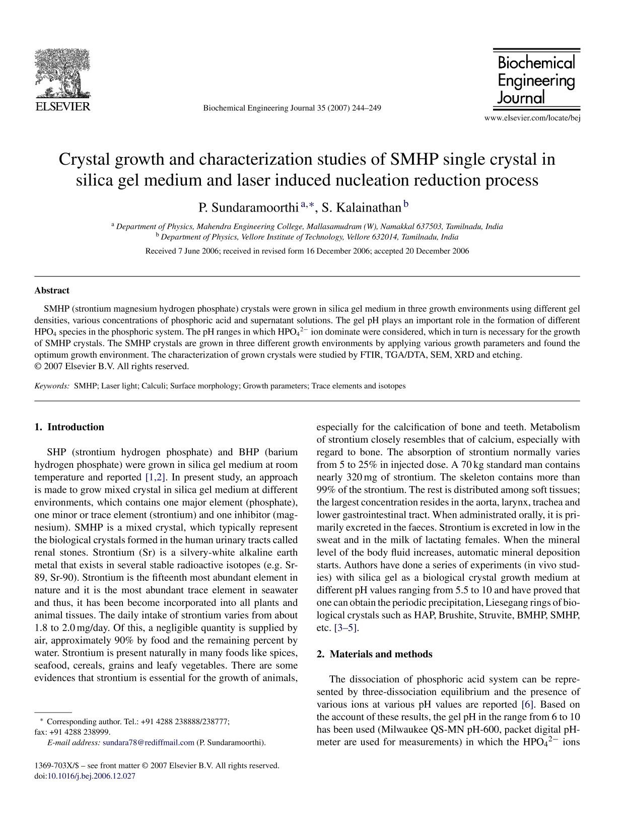 Sampul buku Crystal growth and characterization studies of SMHP single crystal in silica gel medium and laser induced nucleation reduction process